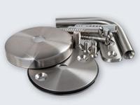 Bei dem Handlauf-Halter werden auch Standard-Schrauben und Standard-Dübel mitgeliefert