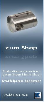 Edelstahl Stabhalter System